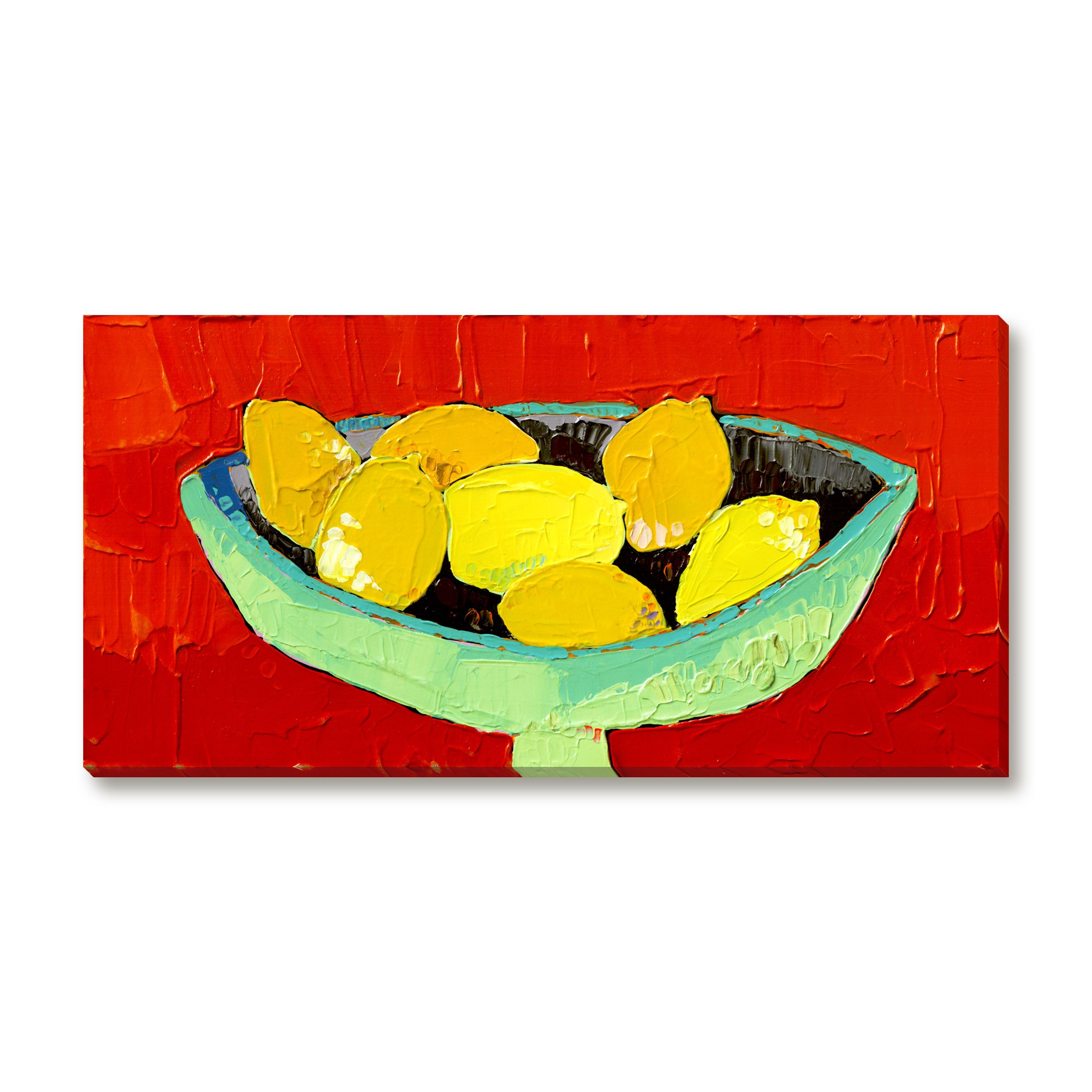 Gallery Direct Trevor Mikula's 'Bowl of Lemons' Gallery Wrapped Canvas