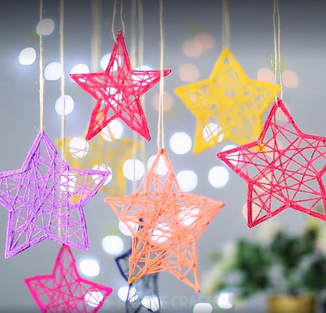 een wollen sterrenhemel weihnachten diy weihnachtsgeschenke bastelideen weihnachten und. Black Bedroom Furniture Sets. Home Design Ideas