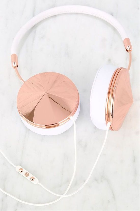White And Rose Gold Headphones White Headphones Rose Gold Jewel Rose Gold