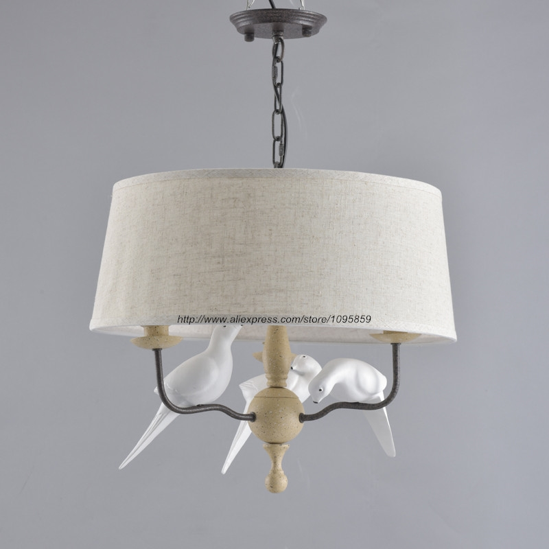 84.80$  Watch here - http://aliqd4.worldwells.pw/go.php?t=32652024077 - Modern Rustic Style 3 Arms White Birds Chandelier Light Lamp Dining Room Ceiling Fixtures Lighting 84.80$