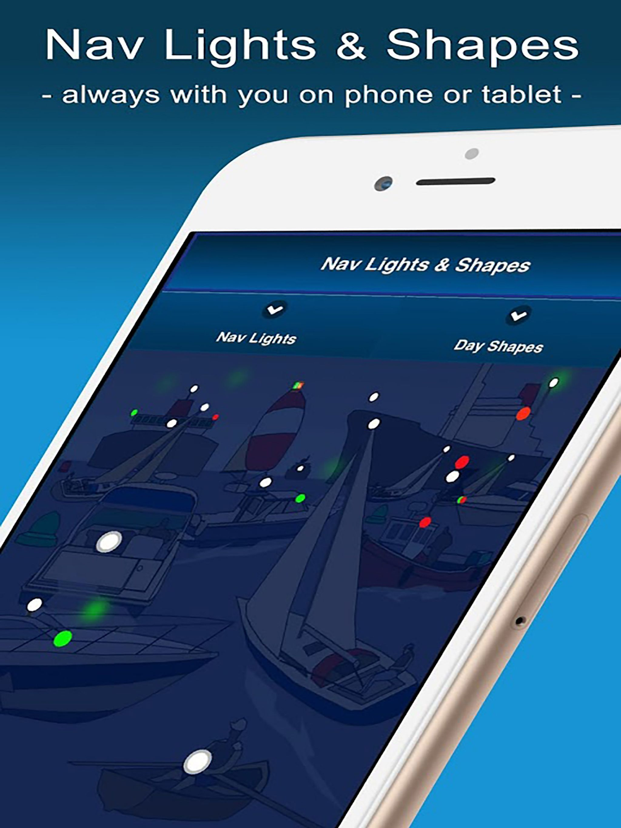 Nav Lights & Shapes app new and updated! Power boats