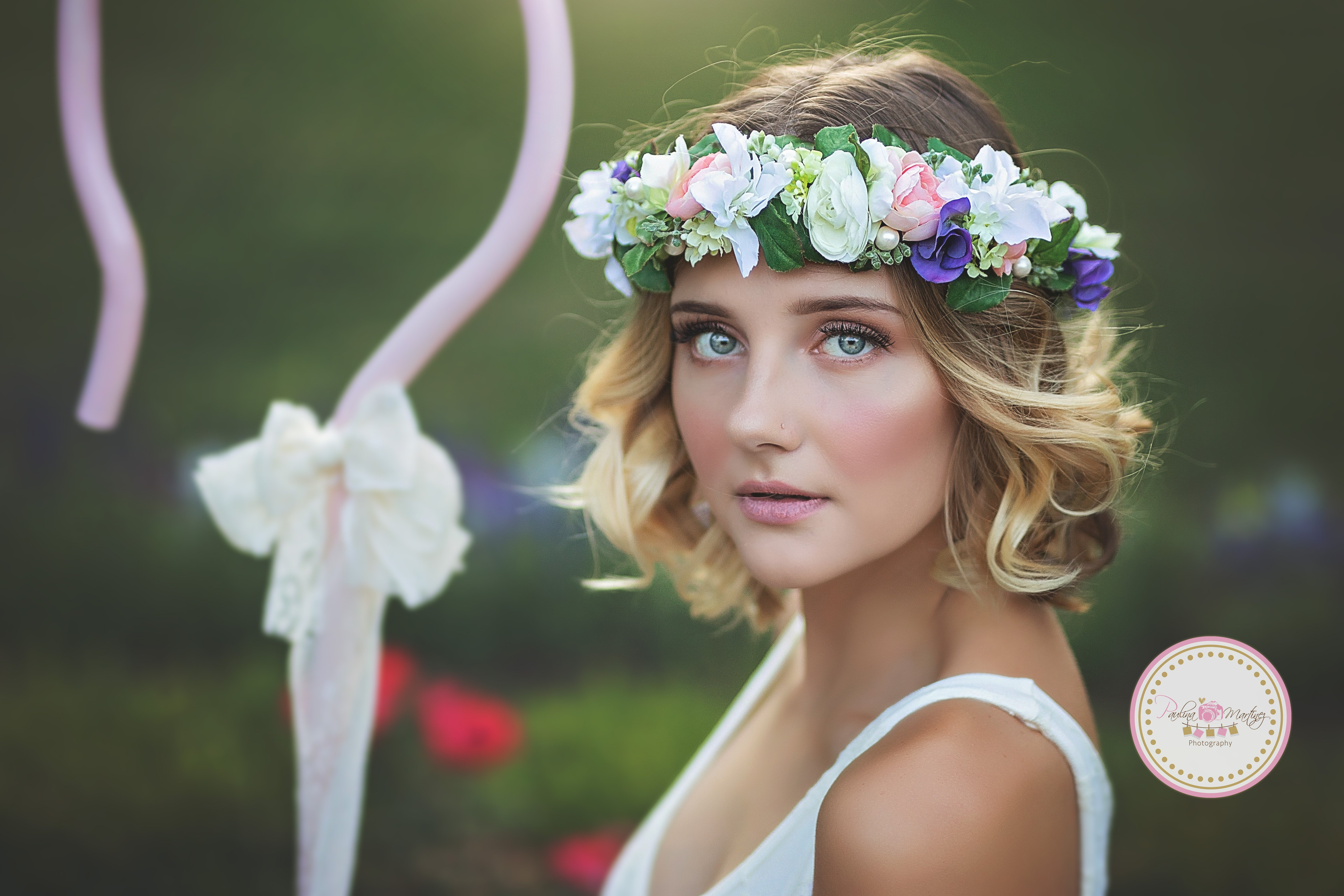 Kai floral crown pastel floral crown grapevine floral halo breathtaking floral crown full of mini ranunculus roses lovely clusters of star flowers foliage and delicate glass pearls handcrafted to add that speci izmirmasajfo Gallery