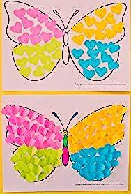 Photo of Butterfly Paper Heart Craft