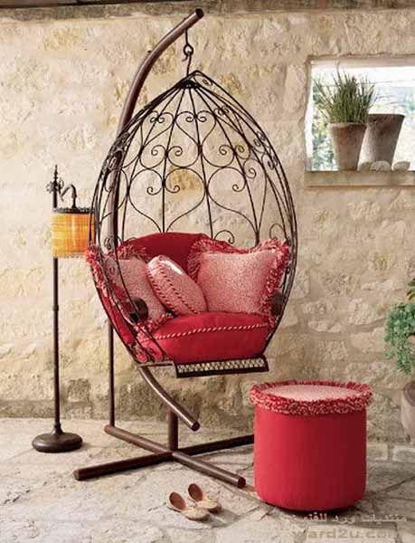 20 Hanging Hammock Chair Designs, Wrought Iron Furniture Indoor