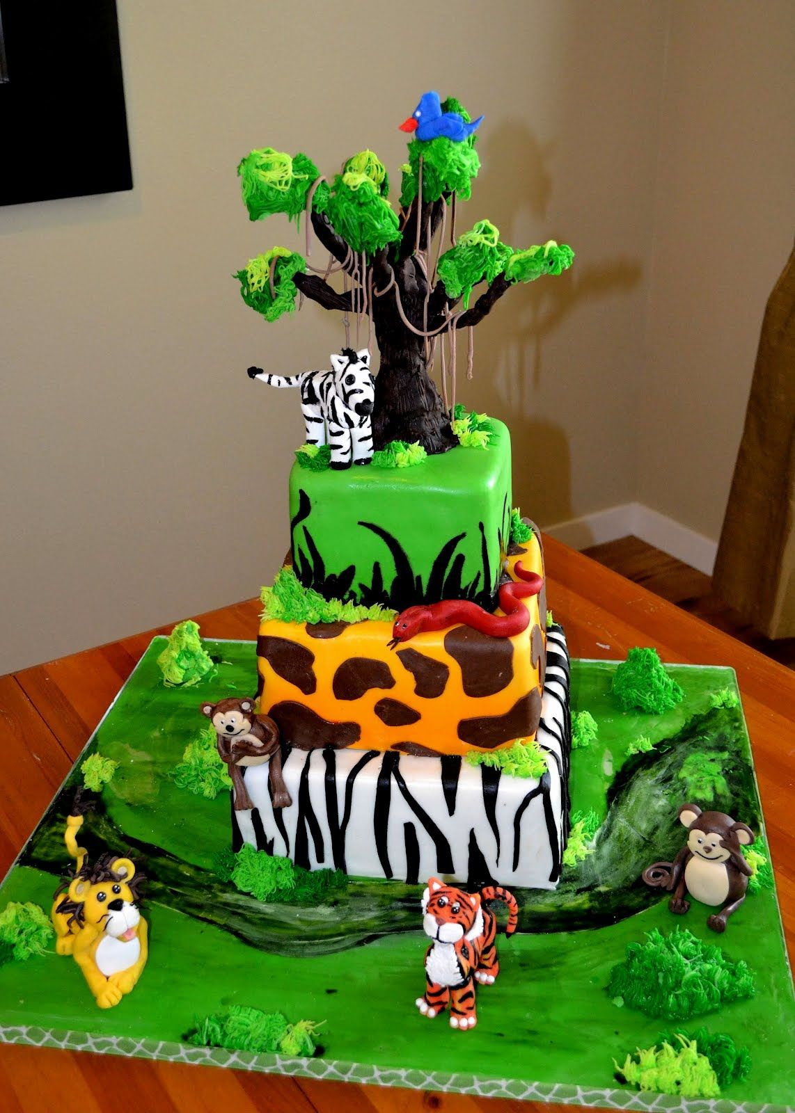 Décoration Safari Anniversaire Safari Theme Cakes Safari Theme Birthday Cake Kids