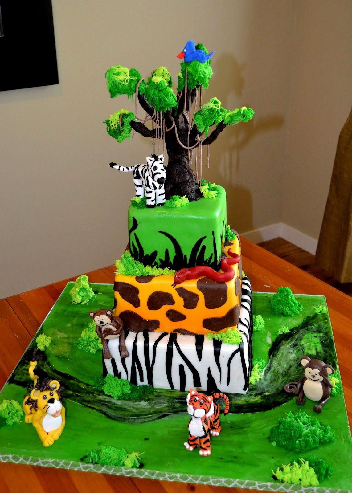 Safari Theme Cakes Safari Theme Birthday Cake Safari
