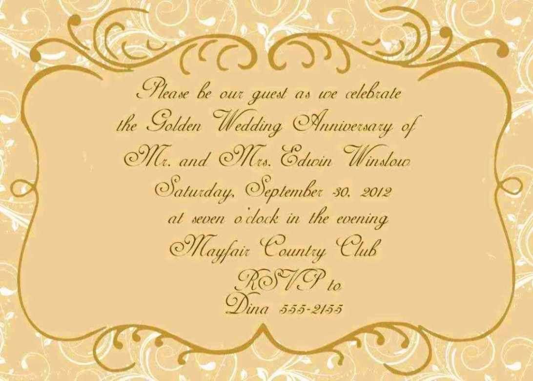 Wedding Certificate Template 50th Anniversary