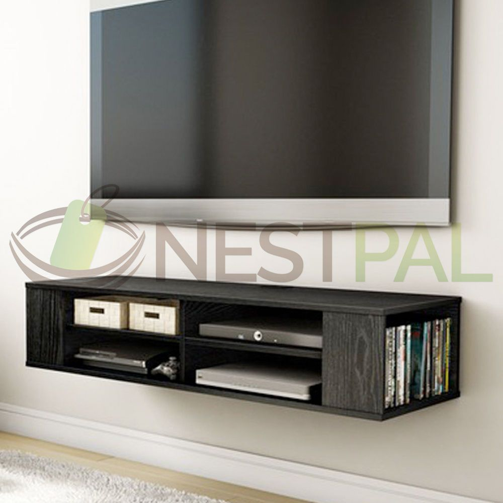 Wall Mount Media Center Shelf Floating Entertainment Console Tv Stand Cabinet Living Room Tv Living Room Tv Stand Tv Stand Cabinet
