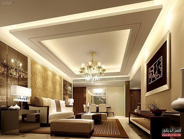 ديكورات داخلية للمنازل العصرية تصاميم فلل كويتية من الداخل قصر الديكور Ceiling Design Living Room Simple False Ceiling Design Pop False Ceiling Design