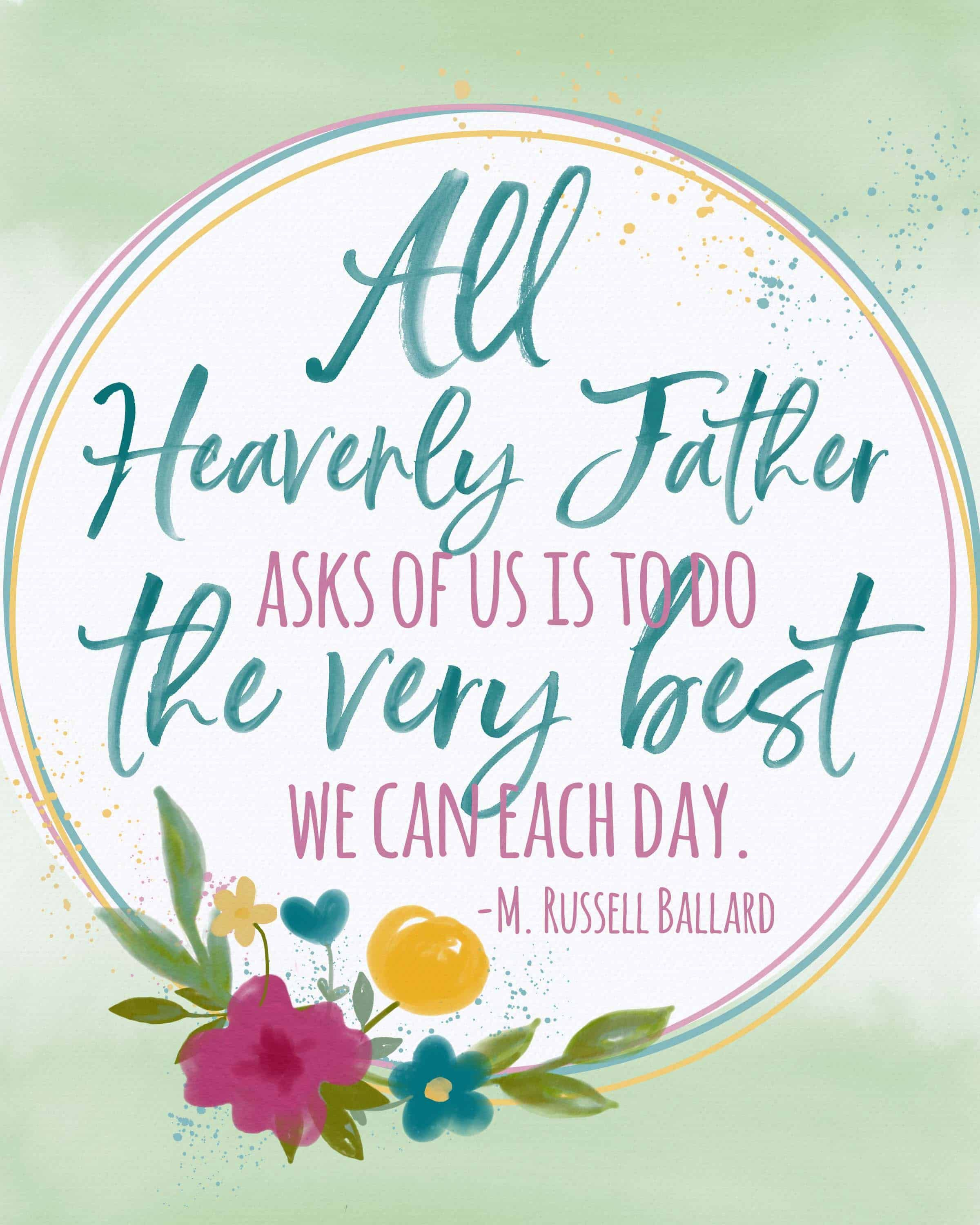Free April 2019 General Conference Quote Printables in