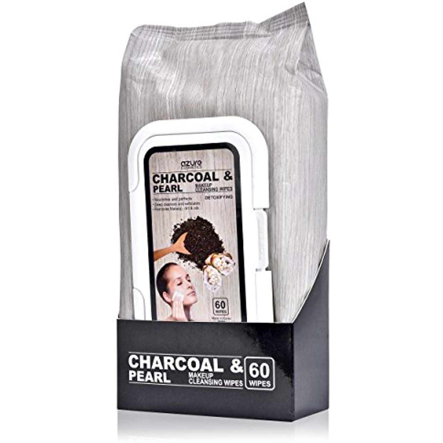 Charcoal and Pearl Detoxifying Facial Wipes – Removes