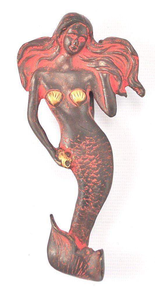 Mermaidhomedecor   Brass Mermaid Door Knocker $49.96