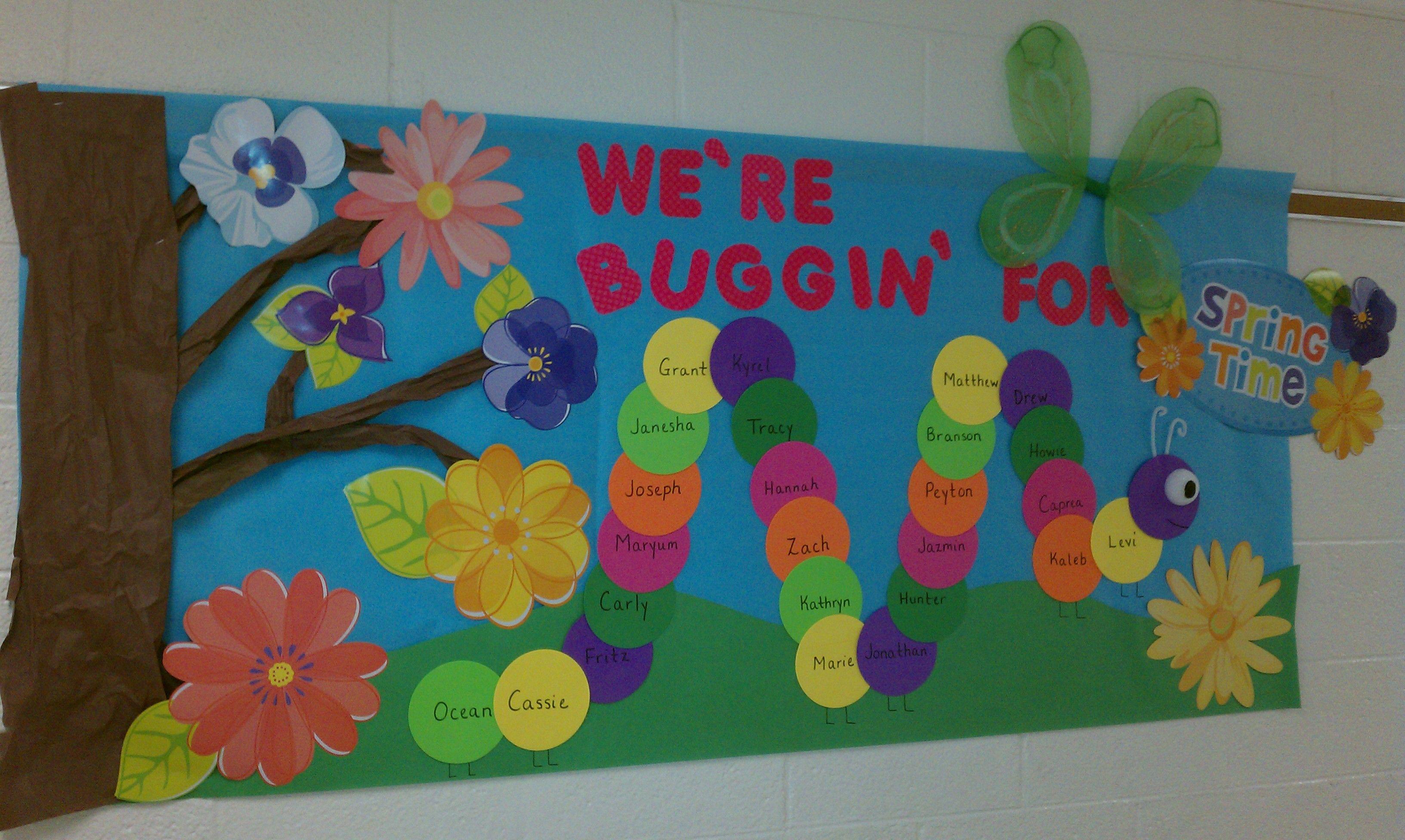 Bacheche Per Ufficio : Spring bulletin board daycare things pinterest