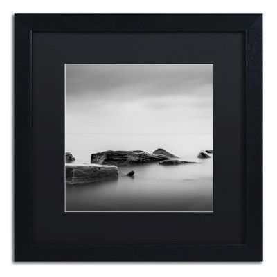 "Trademark Art Calm by Dave MacVicar Framed Photographic Print Size: 16"" H x 16"" W x 0.5"" D"