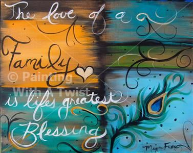 This Looks Really Neat Family Blessings Flower Mound Tx Painting
