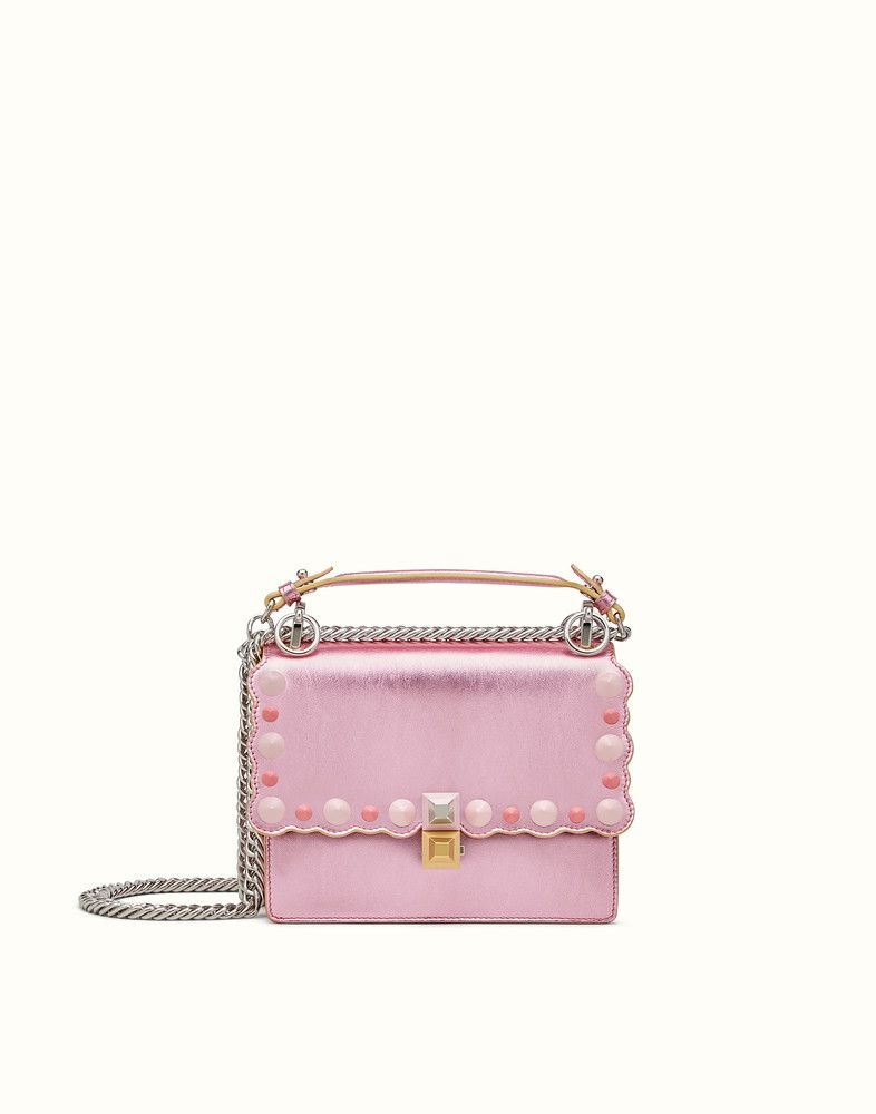 0a2f0037dea6 FENDI SMALL KAN I - Mini bag in pink laminated leather - view 1 detail