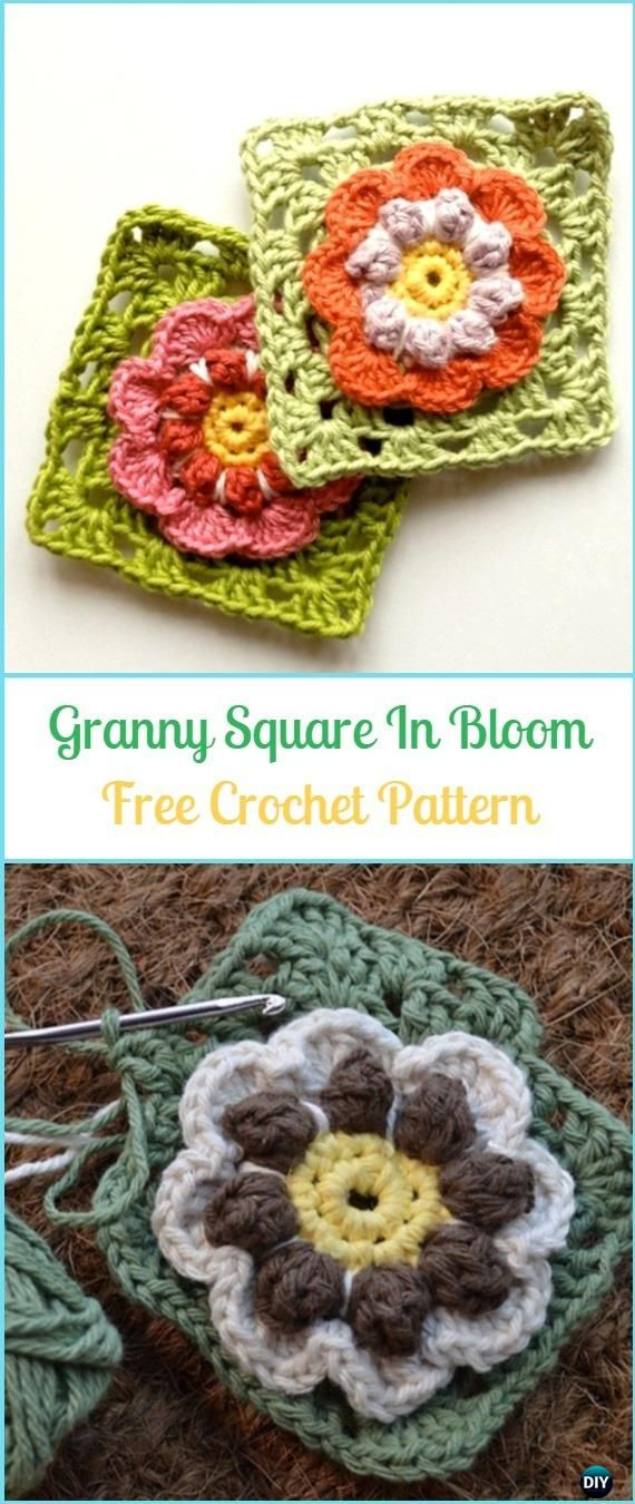 Crochet Granny Square In Bloom Free Pattern - Crochet Granny Square ...