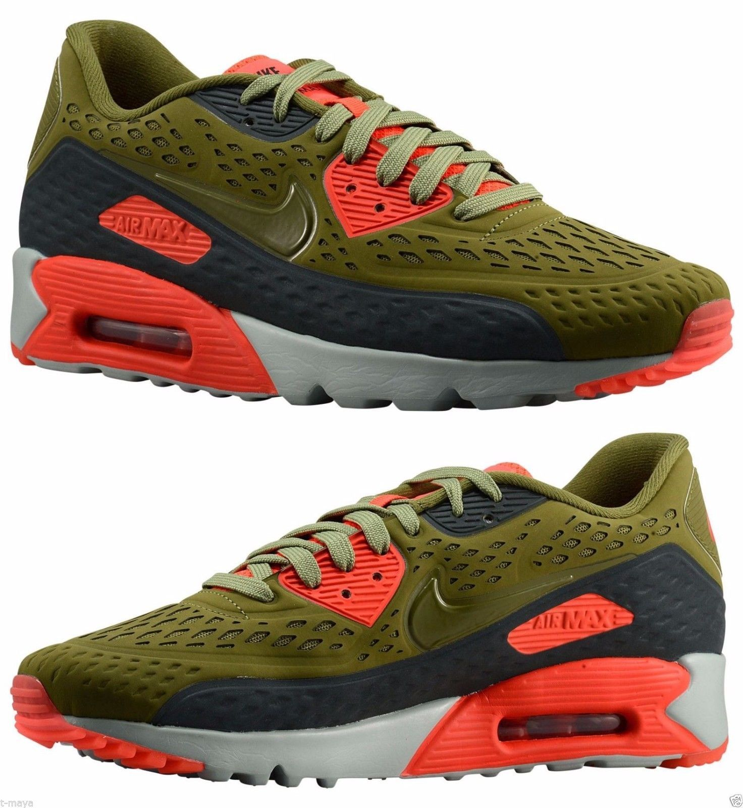online store 2bc61 19f01 NIKE AIR MAX 90 ULTRA SCENERY GREEN BRIGHT CRIMSON 776661 300  199