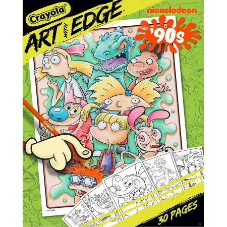 Crayola Art With Edge Nickelodeon 90s Premium Coloring Pages Walmart Com Crayola Art Coloring Books Cartoon Coloring Pages