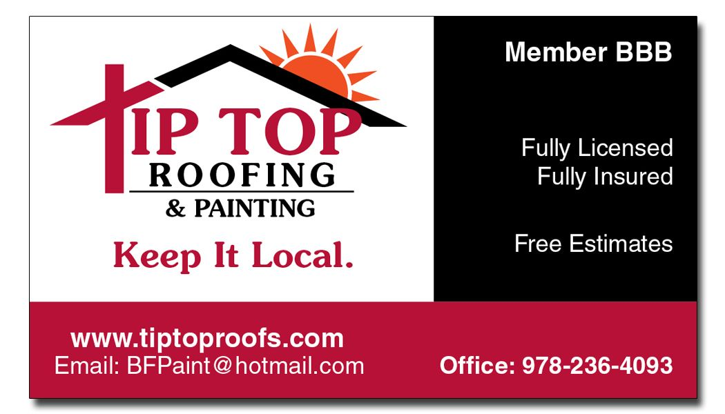Tip Top Roofing & Painting - Business Card   Business Cards & Other ...