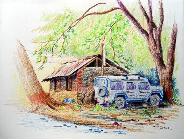 Arteworld by sanika dhanorkar 123 colour pencils sketch mendhi farms pune