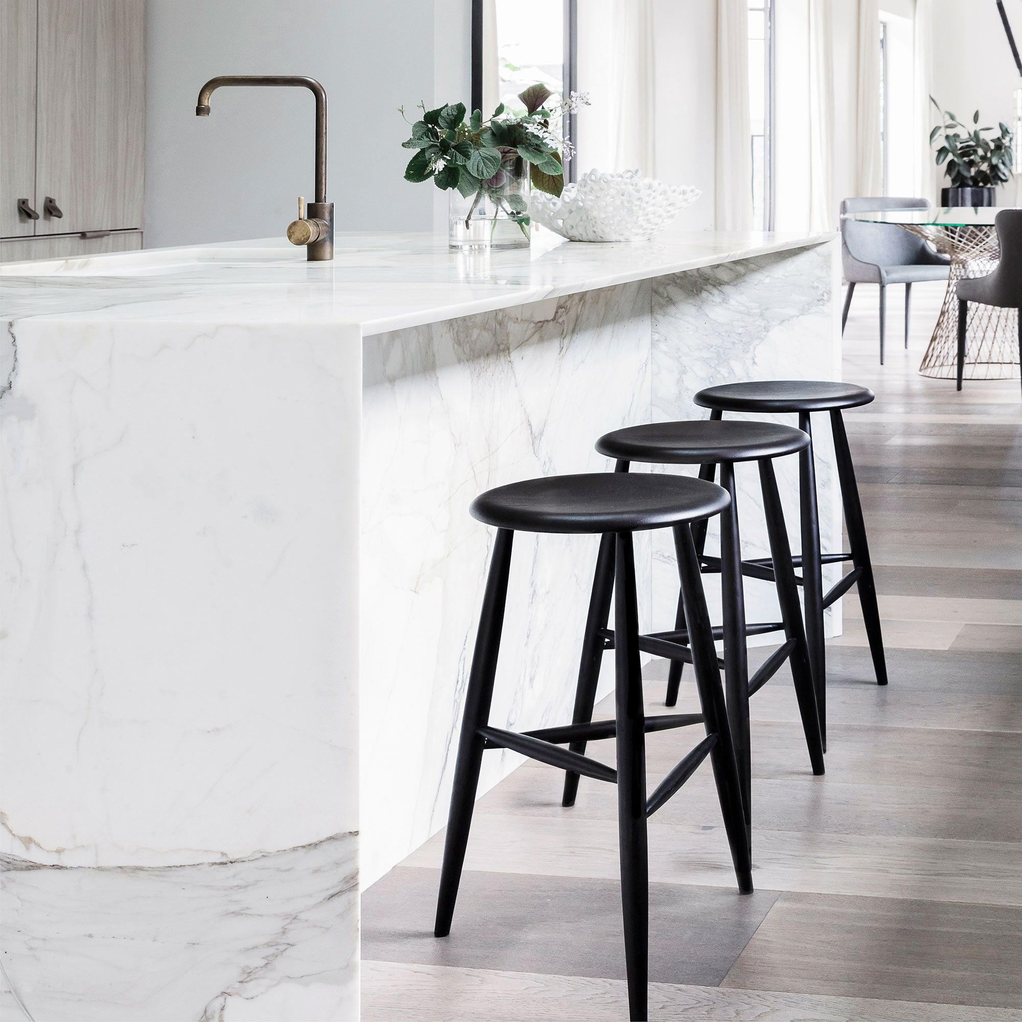 Roxton Timber Stool | Stools In 2019 | Home Decor Kitchen, Wooden Dining Room Chairs, Modern Bar Stools