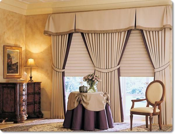 fotos de cortinas para sala con cenefas