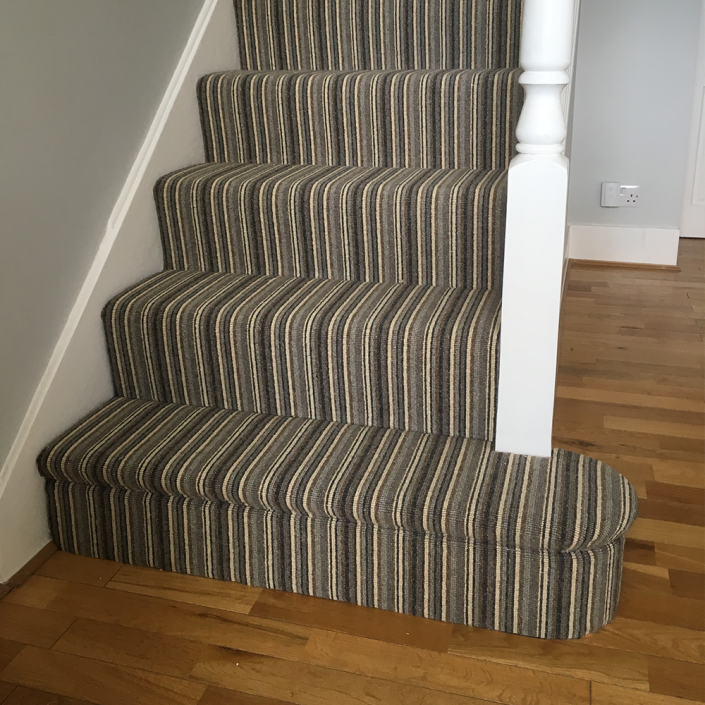 Wooden Stairs With Painted Stripes Updating Interior: Striped-Stair-Carpet-Leeds