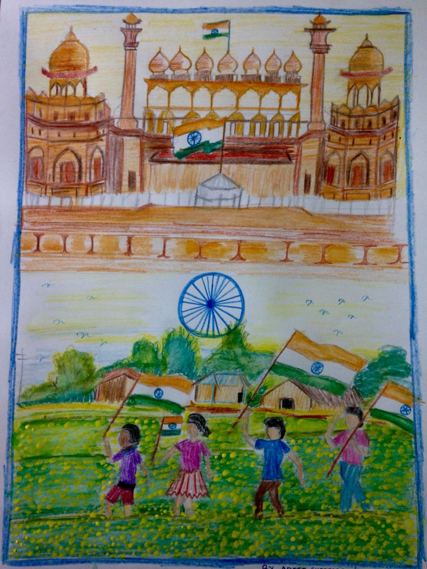 India Independence Day Independence Day Drawing India Independence Independence Day India