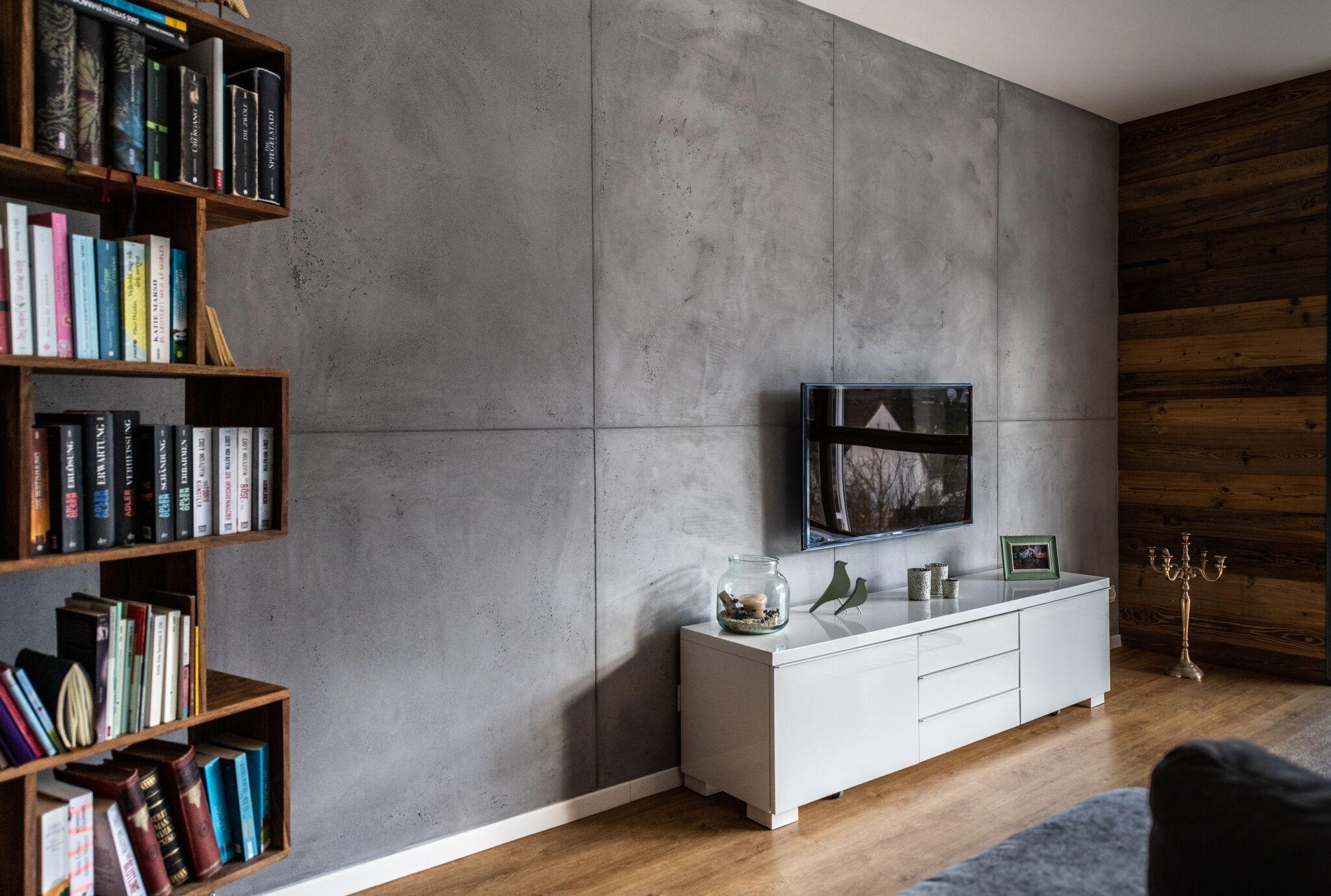 Sichtbeton - Wohnzimmerwand - Livingroom  Sichtbeton