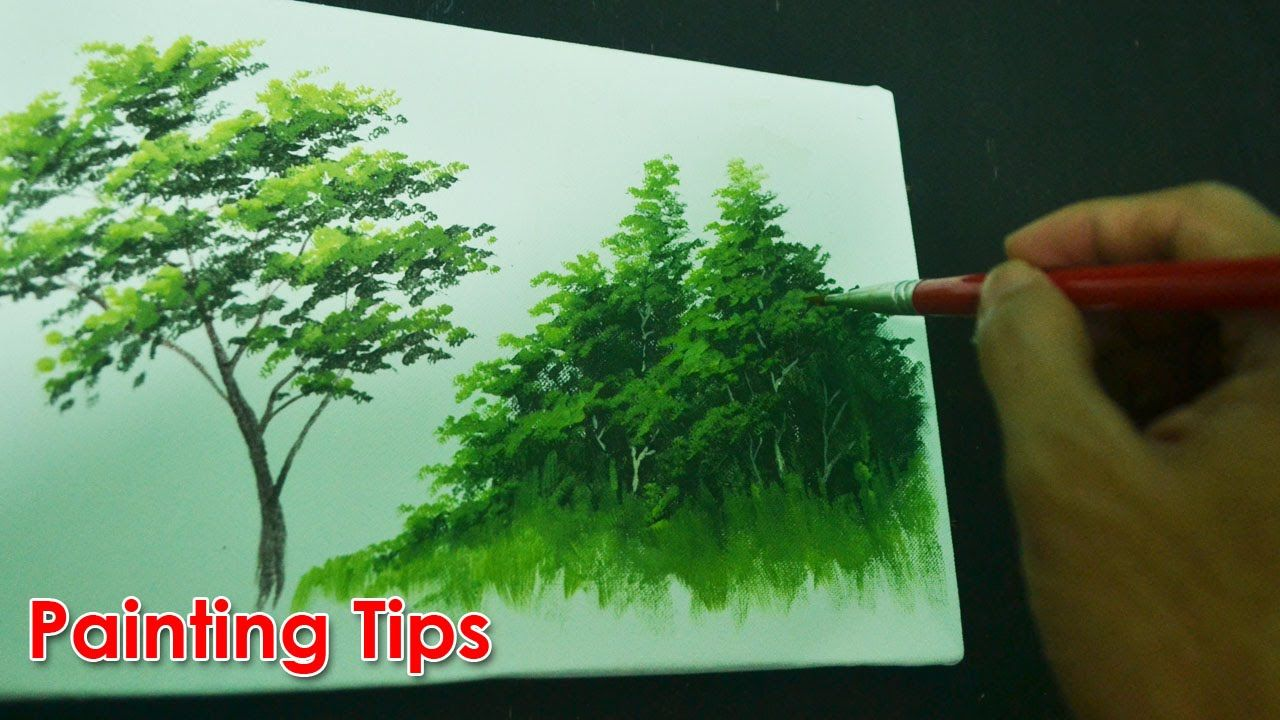 Acrylic Painting Lesson How To Paint Tree Leaves By Jmlisondra Tree Painting Painting Lessons Acrylic Painting Lessons