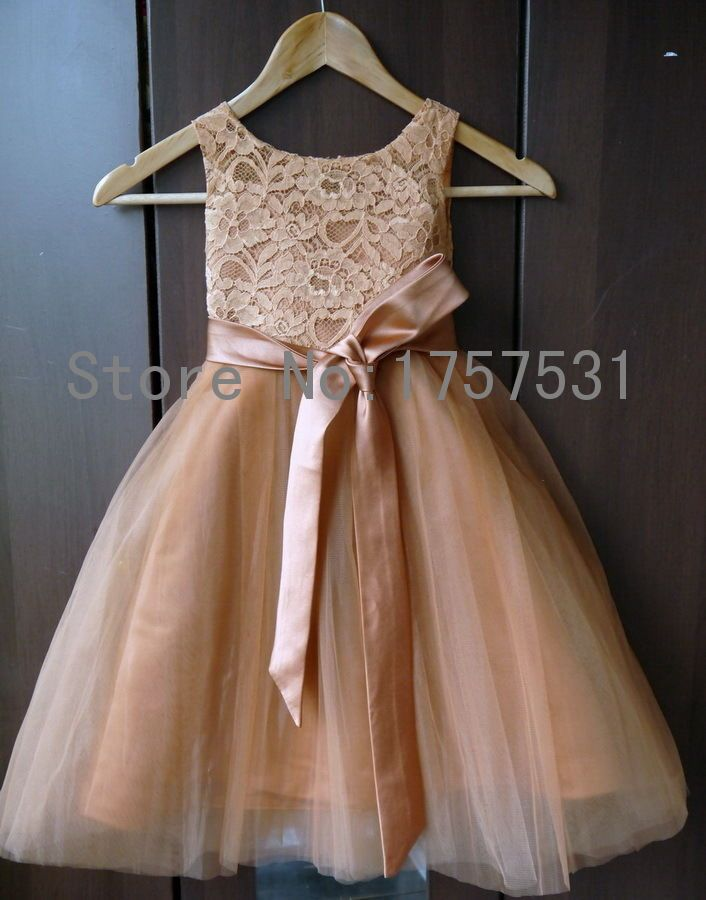 Cheap flower girl dresses buy directly from china for Flowers for champagne wedding dress