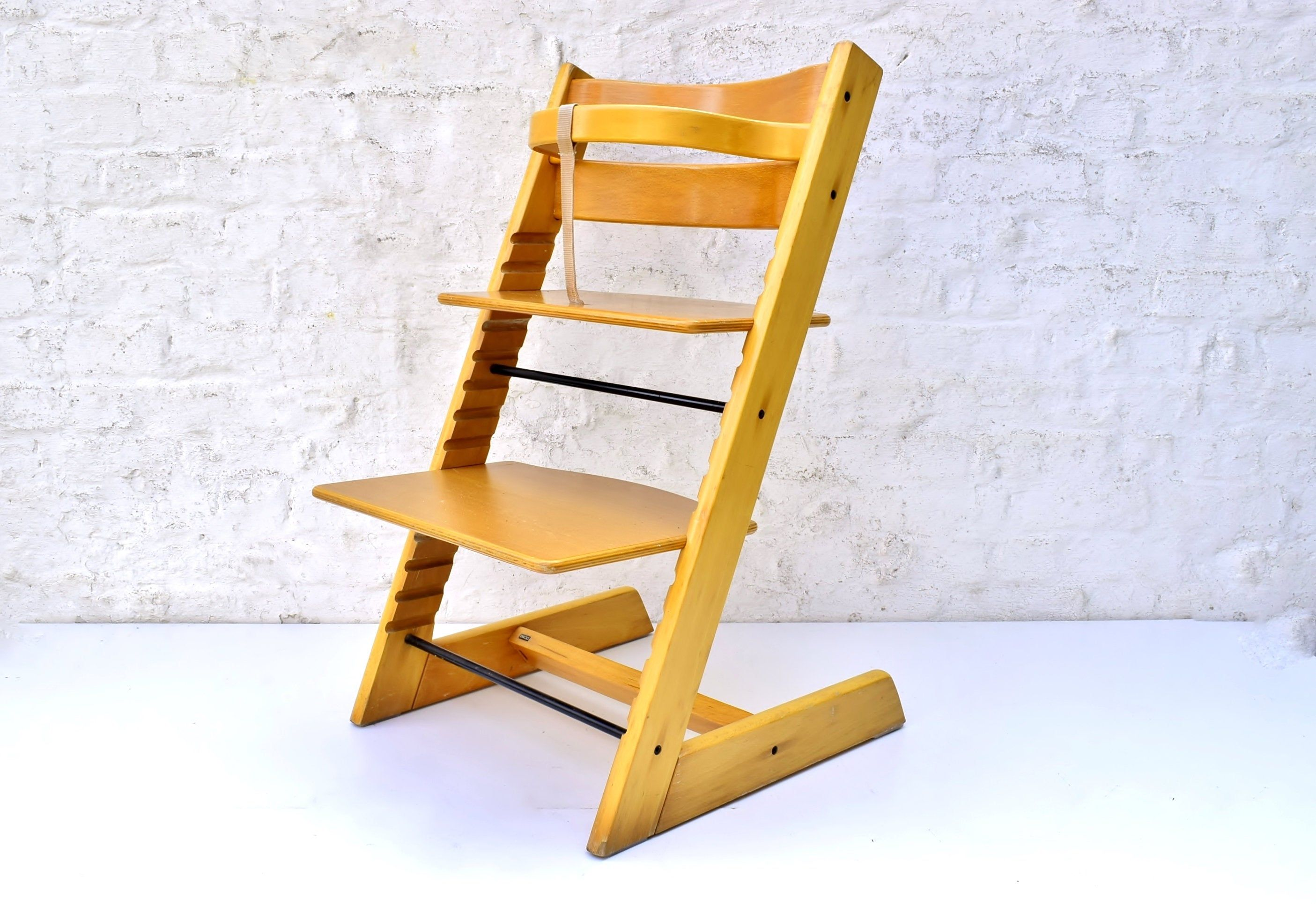 Vintage Stokke Tripp Trapp Chair Retro High Kinderzeat Height Adjustable With Wood Rail Norwegian Design Childrens Furniture Before 2000 Retro Chair Childrens Furniture Norwegian Design