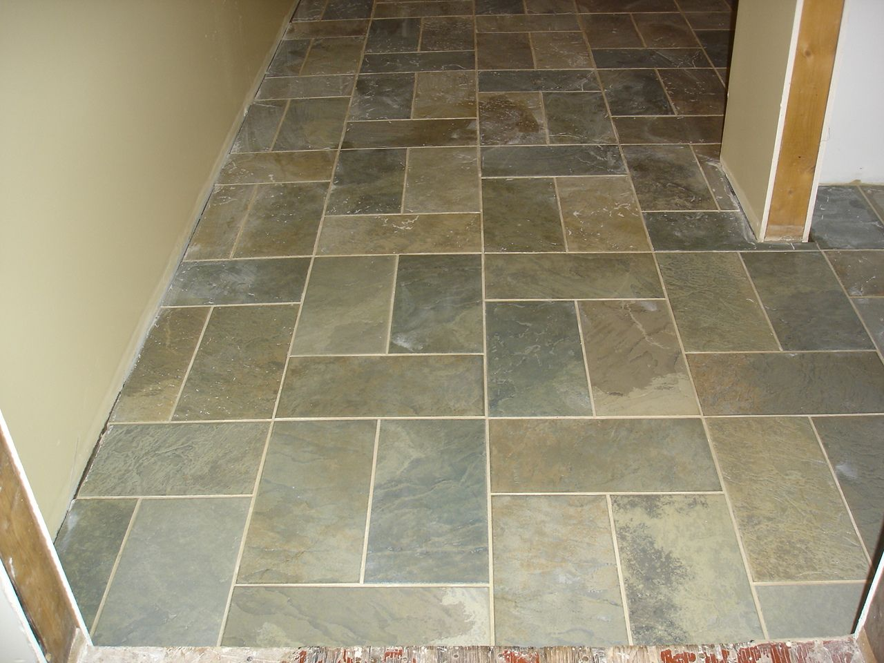 Porcelain floor tile that looks like slate tile design ideas remodeling idea pinterest Slate tile flooring