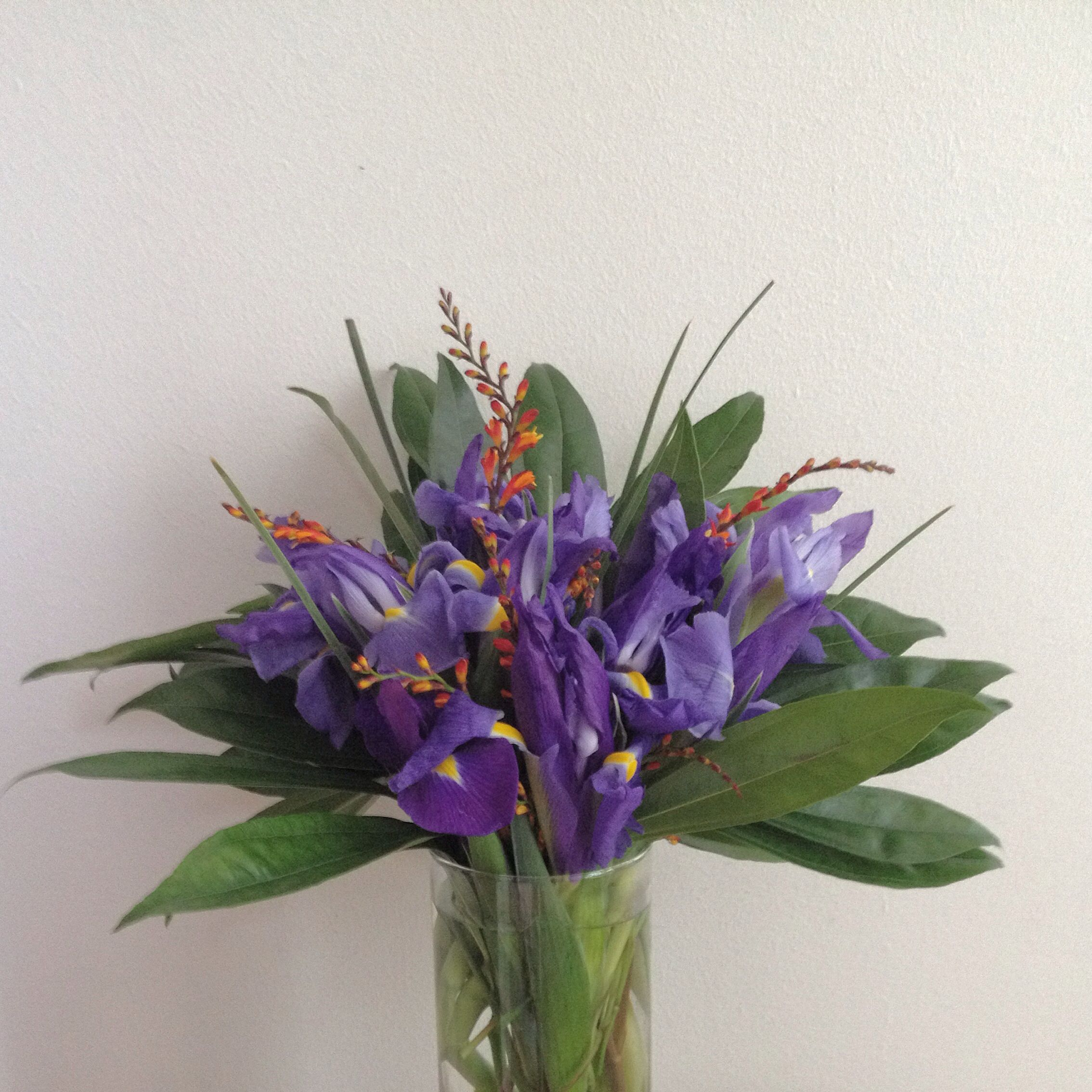 Simple Iris Floral Arrangement For A Registration Table Flora