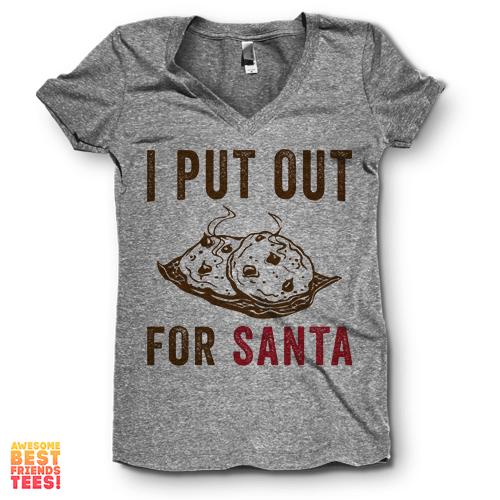 Sale I Put Out For Santa V Neck Christmas Christmas