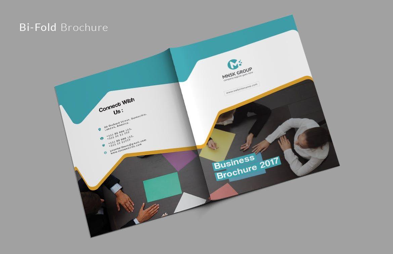 bi fold brochure template ai eps a4