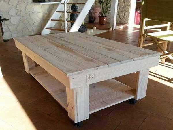 17 Idées pour fabriquer une table basse palette Pallets, Tables