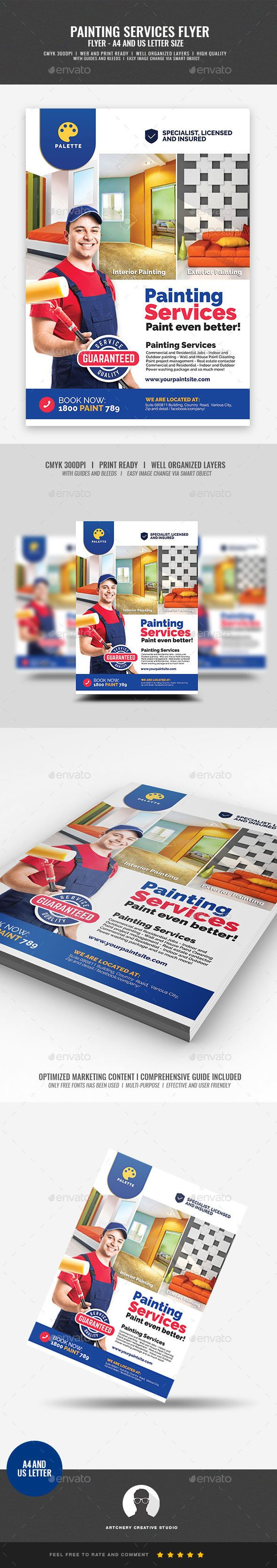 Paint Company Promotional Flyer Commerce Flyers Flyer Templates