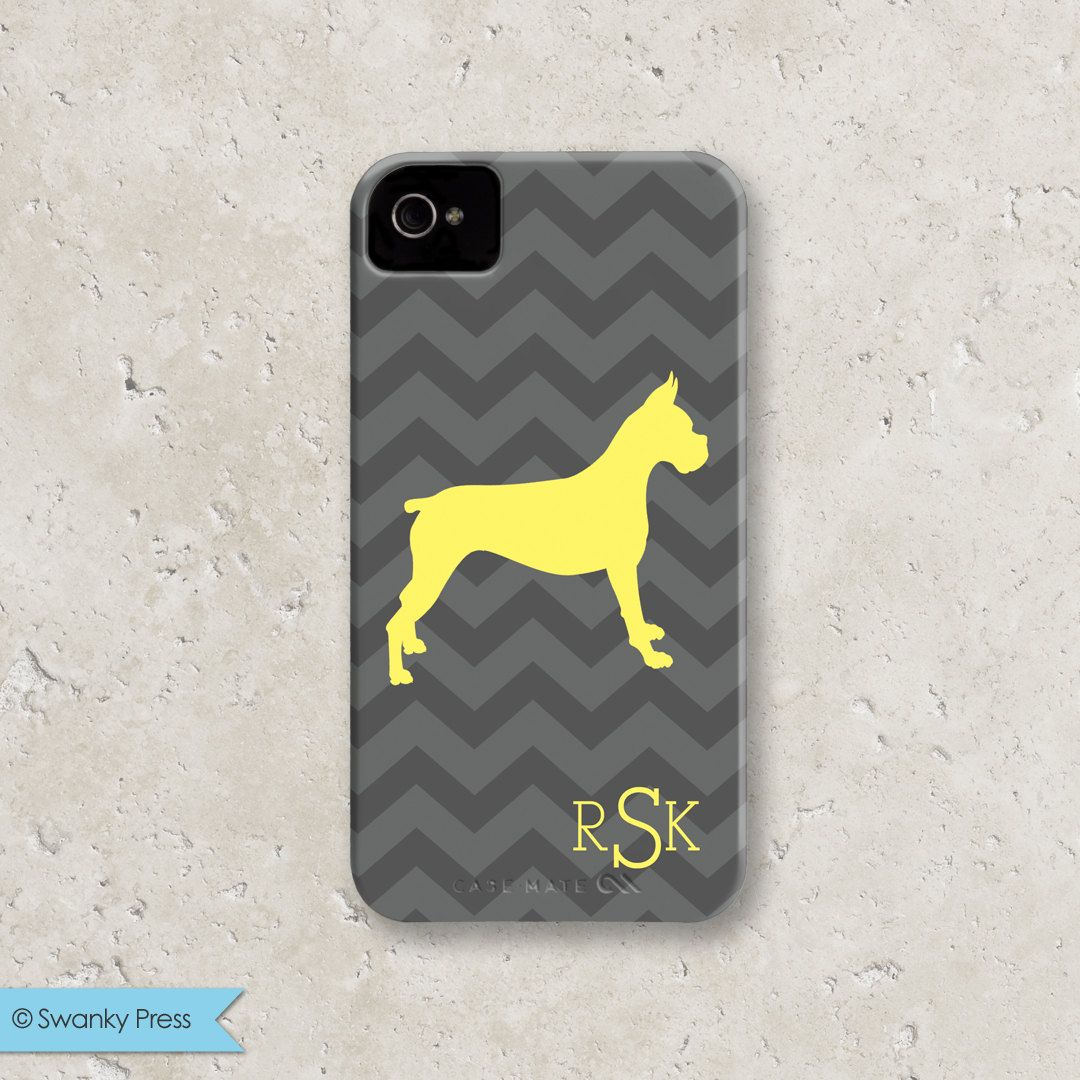 Dog Breed Monogram Chevron Personalized iPhone by swankypress