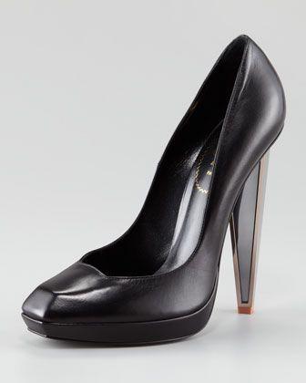 mirrored heel pumpyves saint laurent at neiman marcus