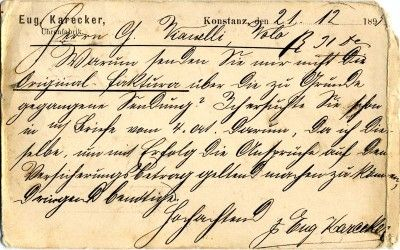 Antique german letter 1895 sent from constance to to volos greece antique german letter 1895 sent from constance to to volos greece back in kurrent expocarfo Images
