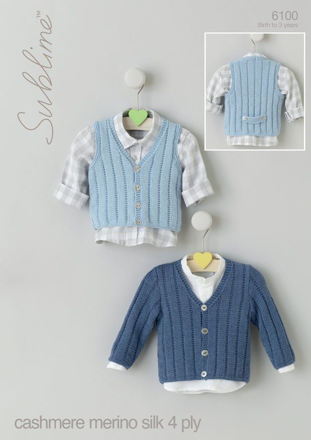 654bfdb7b Baby Boys V Neck Cardigan and Waistcoat in Sublime Baby Cashmere ...