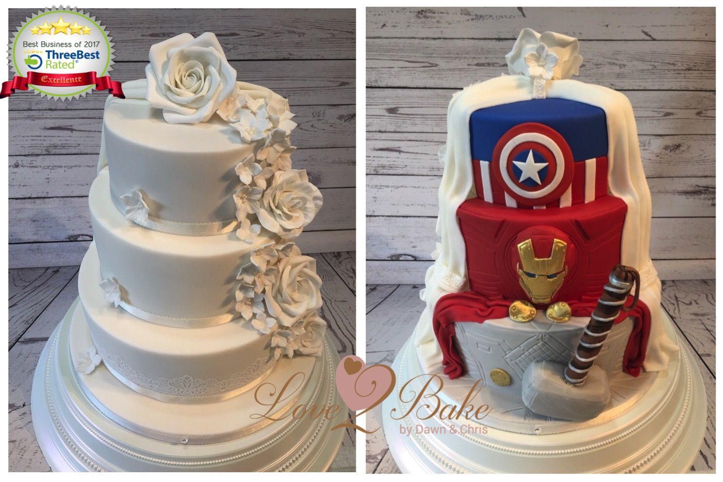 28++ Half marvel wedding cake ideas in 2021