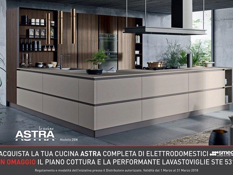 Cucina Astra Cucine Design Bianca Con Penisola Line Scontata Cucine Moderne Arredamento Arredamento Moderno Cucina