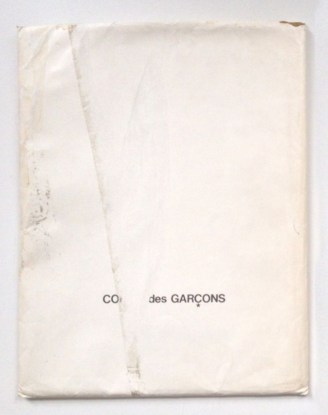 Idea Books Finds The Only Known Copy Of Comme Des Garcons 20 Year Old Furniture Catalogue Minimal Art Design Print Layout Book Cover Design