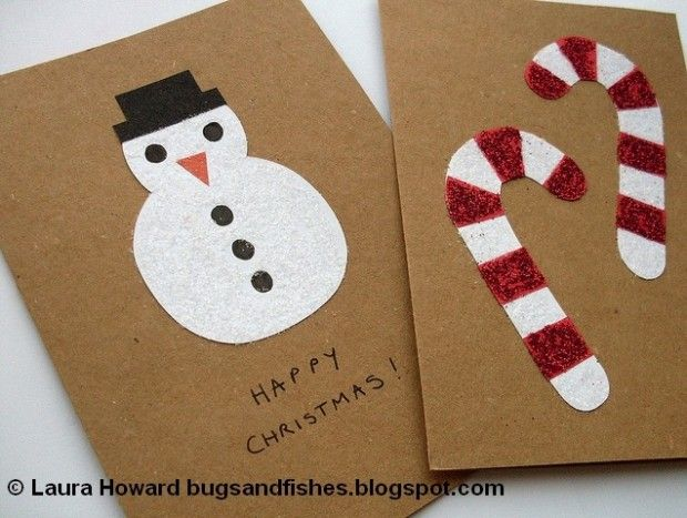 18 homemade diy christmas cards to impress snappy pixels for Easy xmas cards