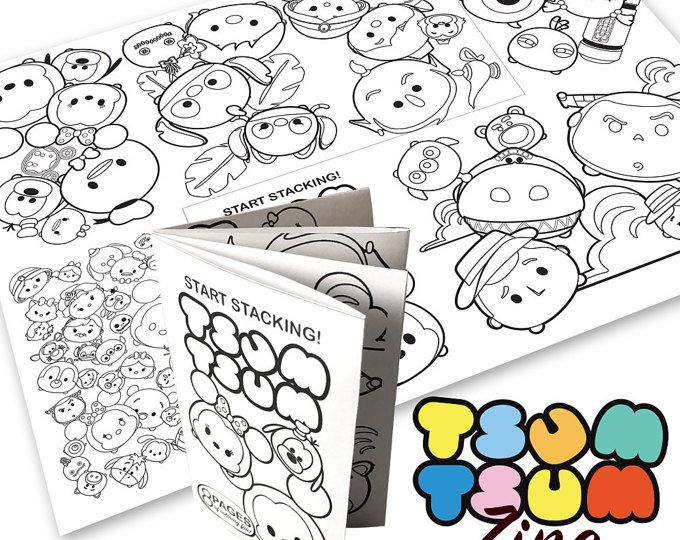 Tsum Tsum Fiesta De Cumpleaños Para Colorear Páginas Libro De: Browse Unique Items From OhWowDesign On Etsy, A Global