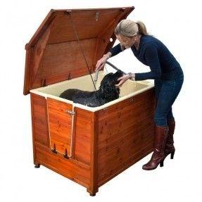 Doggy Shouse Grooming Kennel Outdoor Dog Pet Bathtub W Ramp