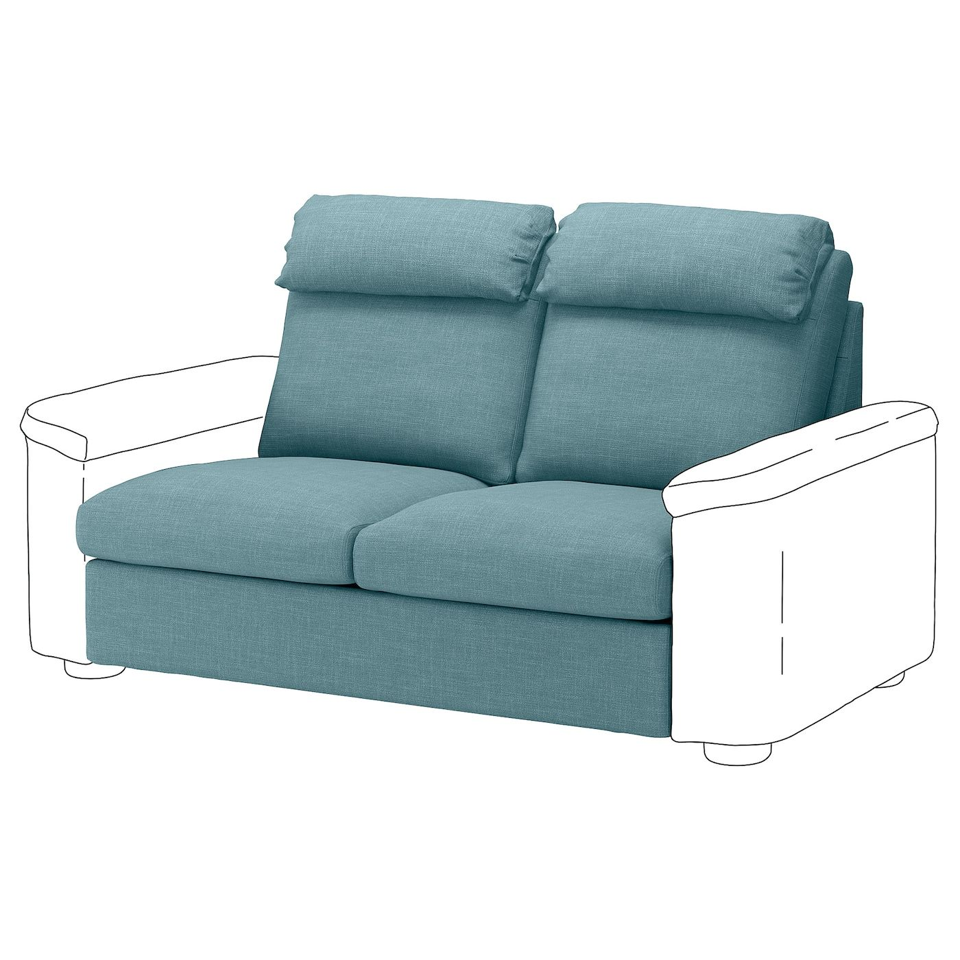 Lidhult Bezug 2er Bettsofaelement Gassebol Blaugrau Ikea Osterreich Blau Grau Kleines Sofa Sofa